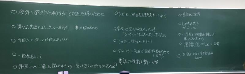 英語学習の動機付けについて