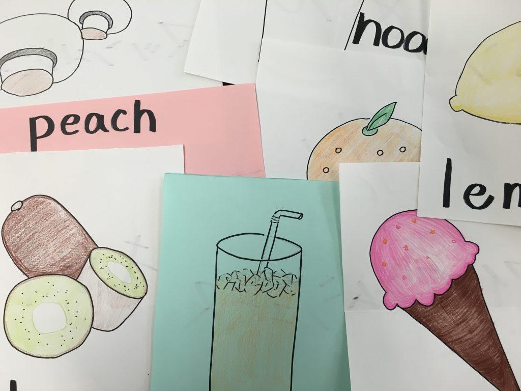 peachなどは紙もピンク色を使っている。
